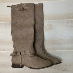 New Breckelles Tall Riding Boots Beige Size 7.5